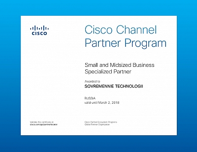 Cisco Channel Partner Program Small and Midsized Business Specialized Partner 02.03.2018