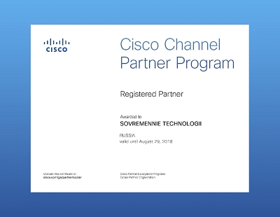 Cisco Channel Partner Program Registered 2018